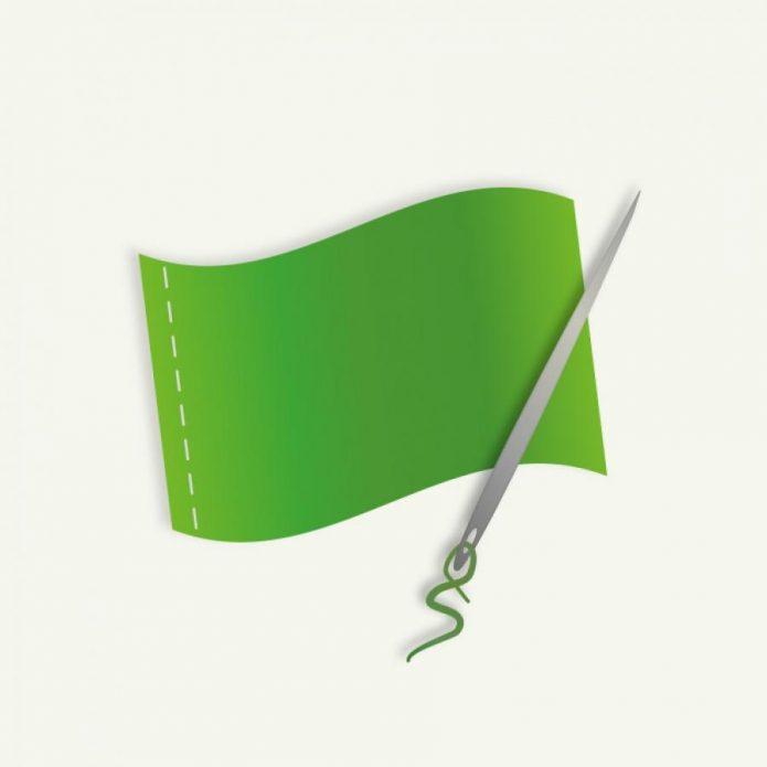 zászló varrás